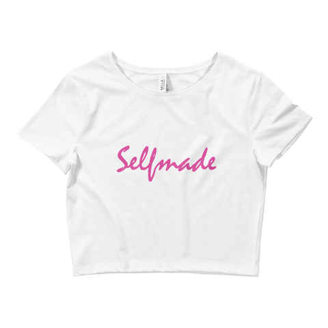 Ladies' Cursive Crop Top