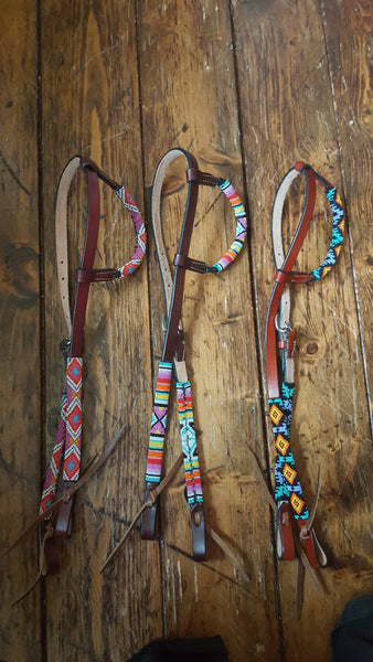 Beaded Single Ear Headstall