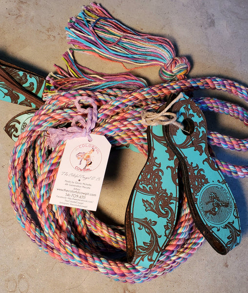 Cotton Bright Gypsy Boho Split Reins