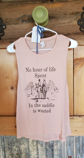 No Hour Spent in the Saddle is Wasted Tank