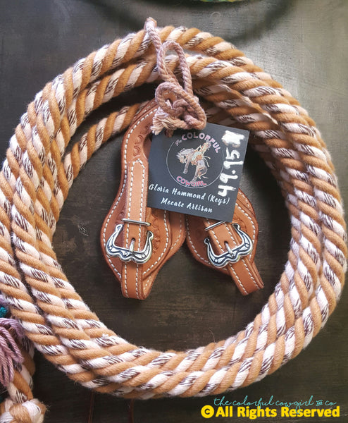 Cotton Single Loop Rein & Slobber Straps Set
