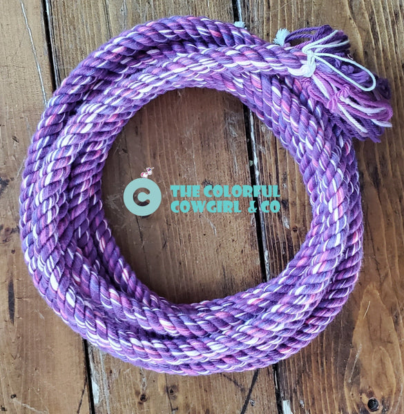 Purple Love Cotton Loop Rein