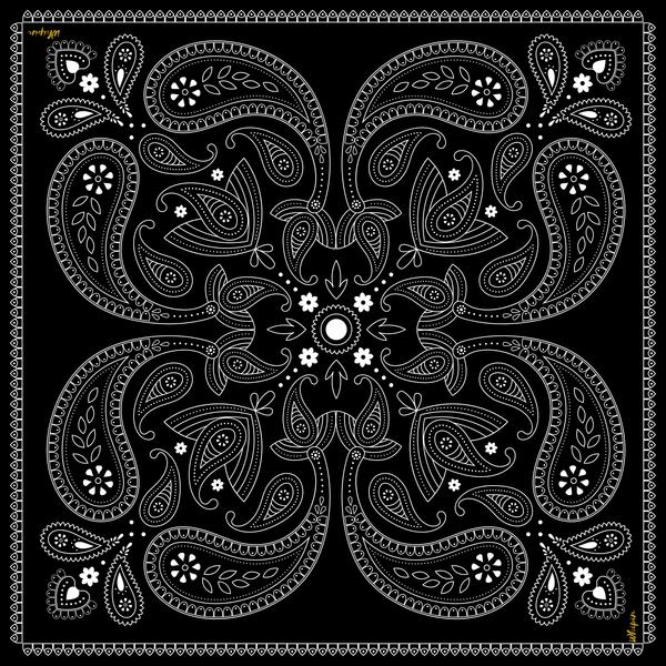 Black Bandana Silk Wildrag