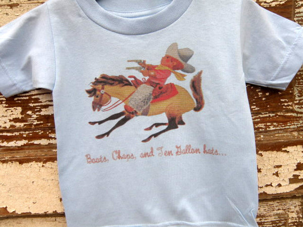 Boots Chaps Ten Gallon Hats Youth Toddler Tee