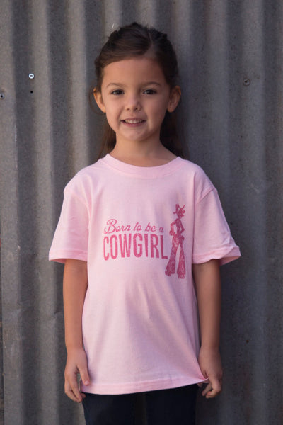 Born to be a Cowgirl youth tee
