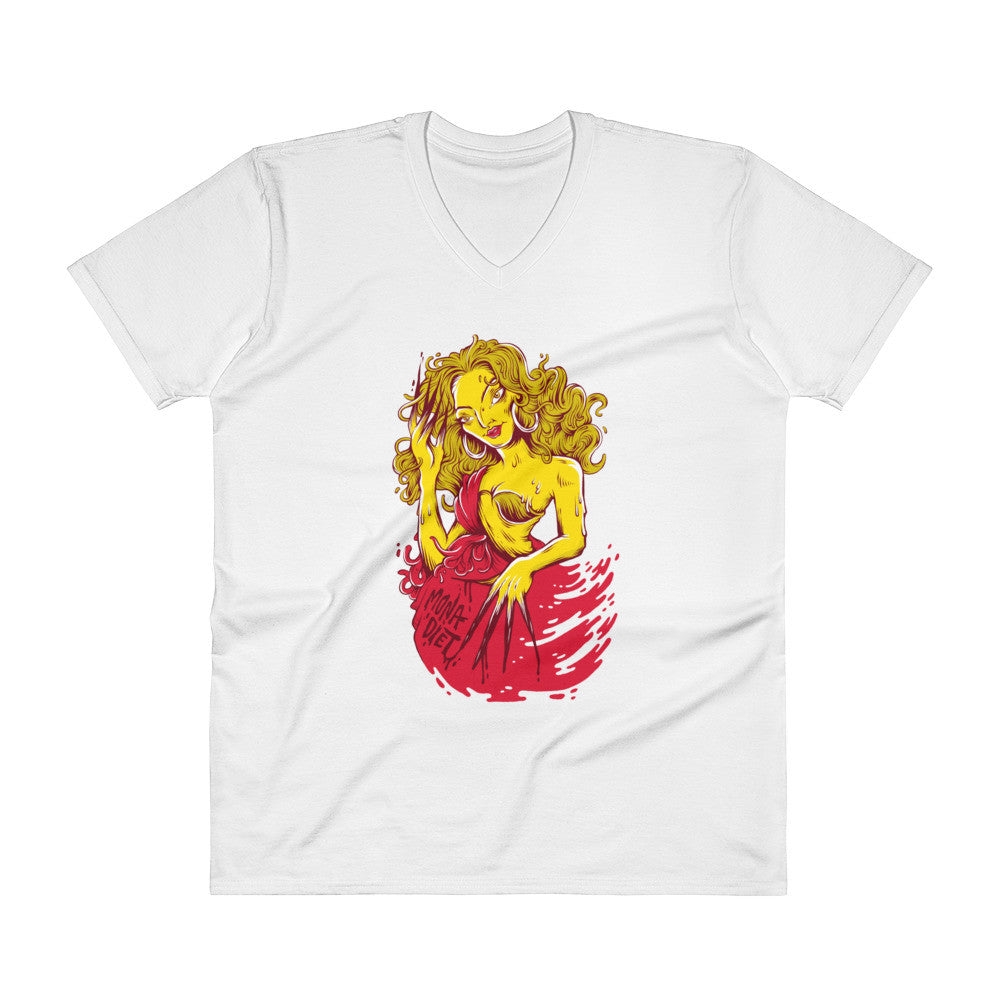 Mona Diet: Butter V-Neck T-Shirt