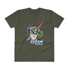 Addam Silver: 80's Freak V-Neck T-Shirt