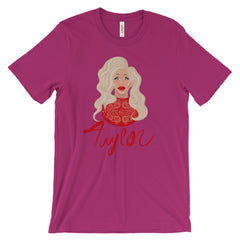 Taylor Madison Monroe: Lady in Red Unisex short sleeve t-shirt
