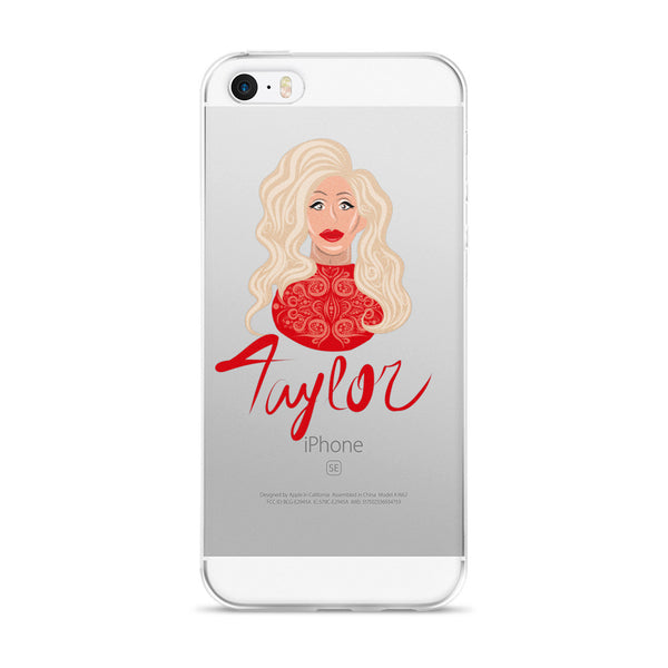Taylor Madison Monroe: Lady in Red iPhone 5/5s/Se, 6/6s, 6/6s Plus Case