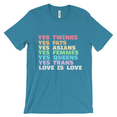LOVE IS LOVE: Unisex short sleeve t-shirt