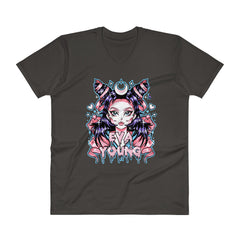 Eva Young: Anime Goddess V-Neck T-Shirt