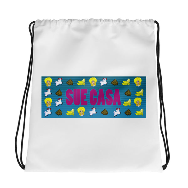 Sue Casa: Emoji Drawstring bag