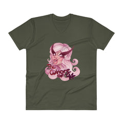 Whore of '94: Pretty in Pink V-Neck T-Shirt