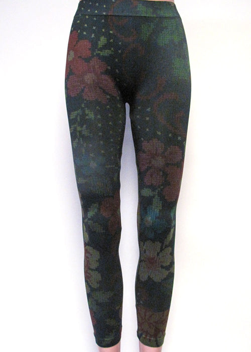 Embroidery Long Leggings