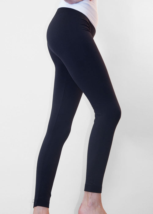 Solid Fleece Thermal Leggings