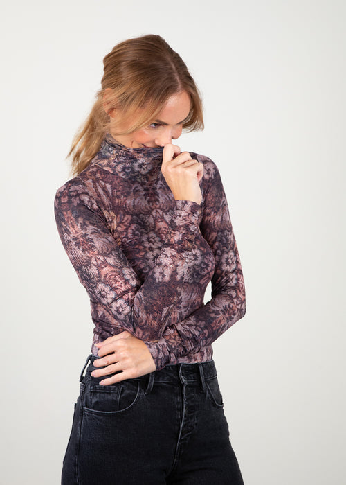 Golden Tapestry - Barcelona Turtleneck Top