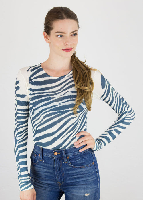 Zebra Second Skin Crew Neck Top