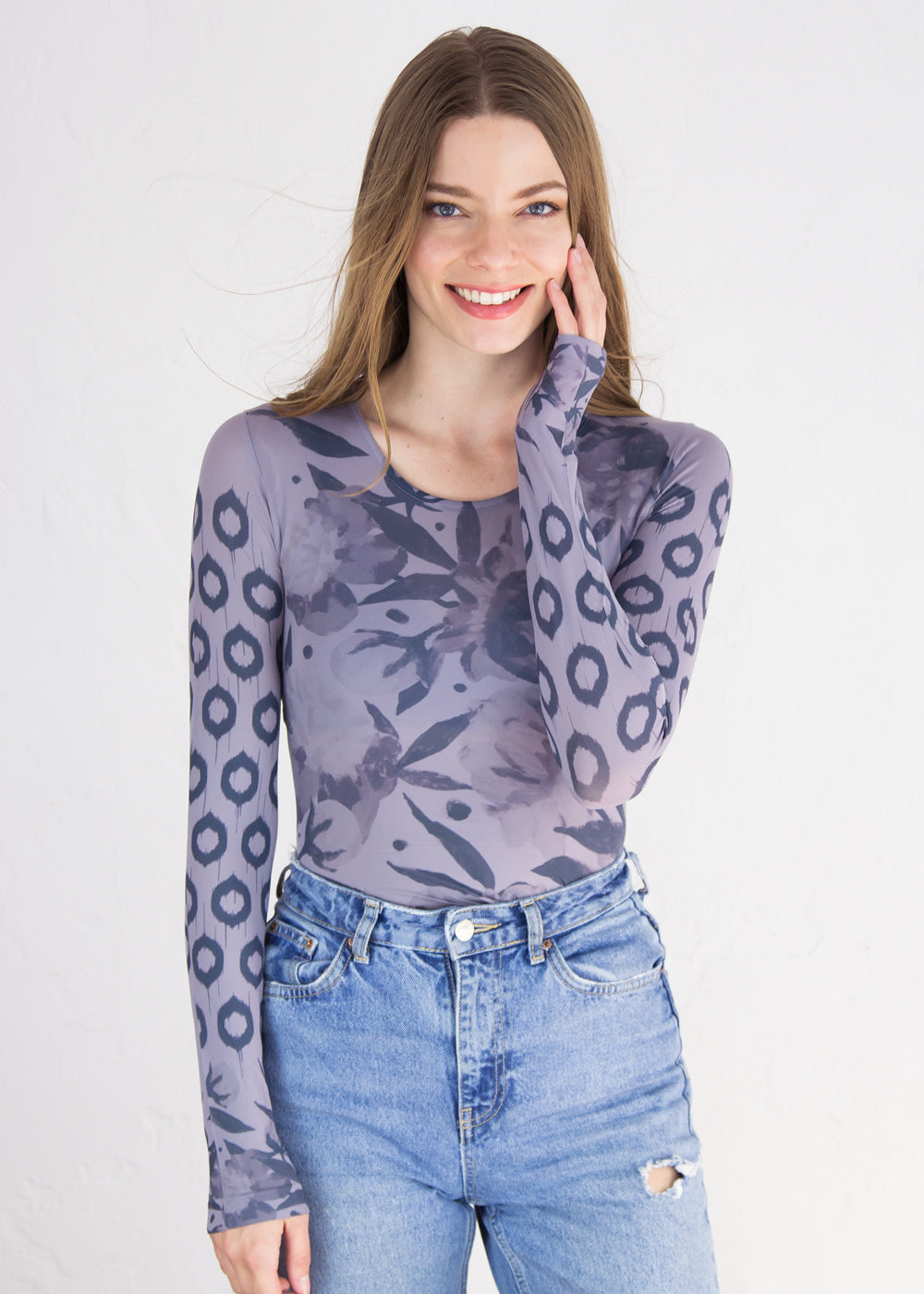 Boho Peony Crew Neck Top - New Colors!