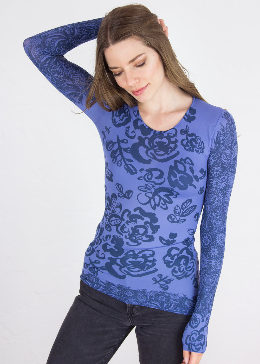 Flower Medley Crew Neck Top - New Colors!