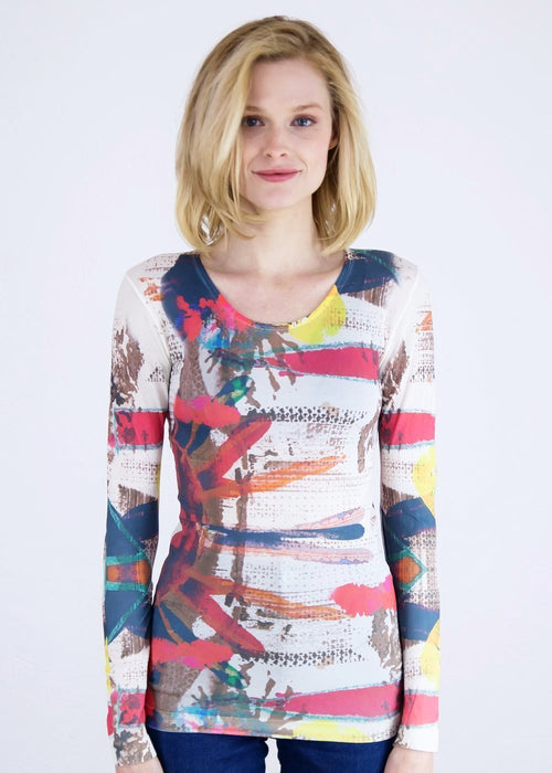 Primal Art Second Skin Crew Neck Top