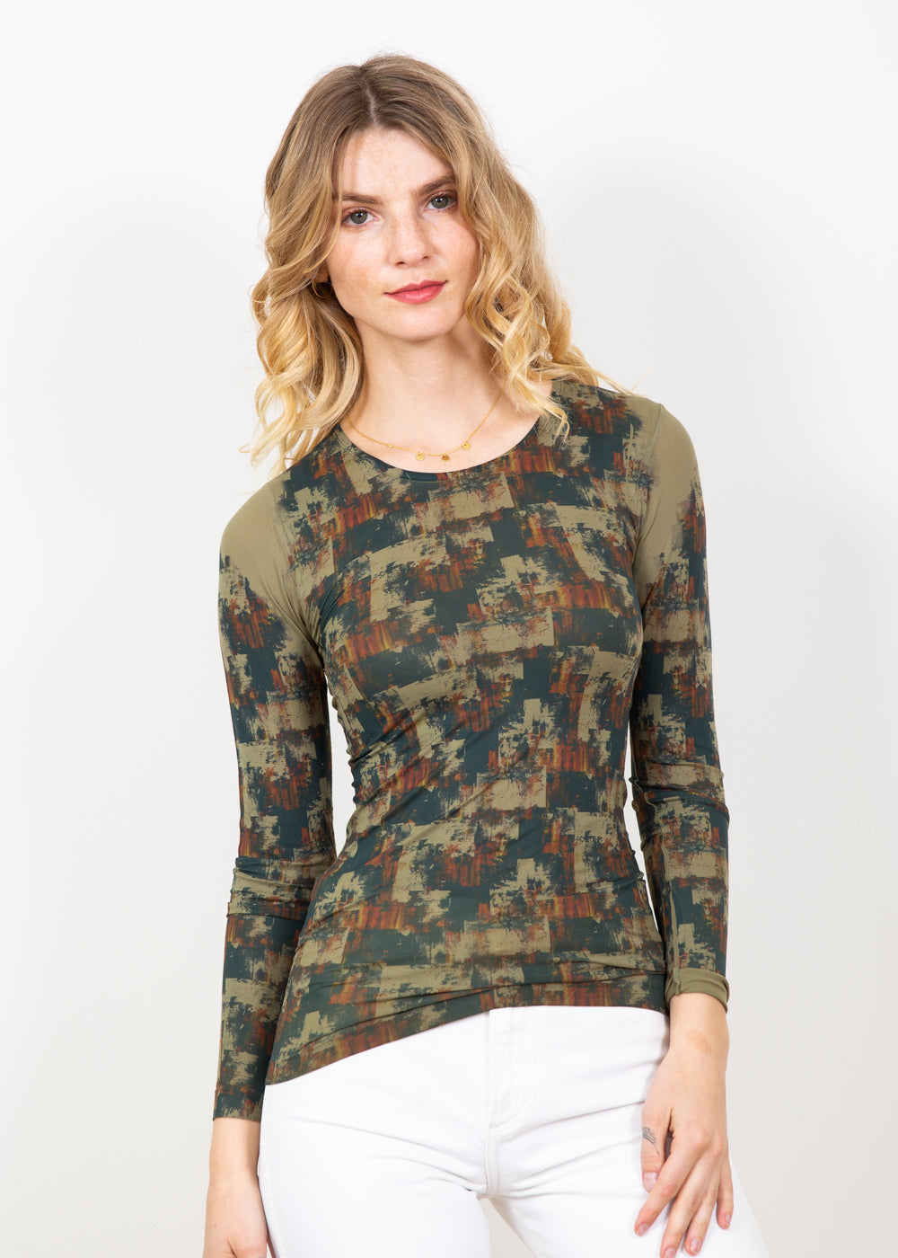 Autumn Grunge Crew Neck Top