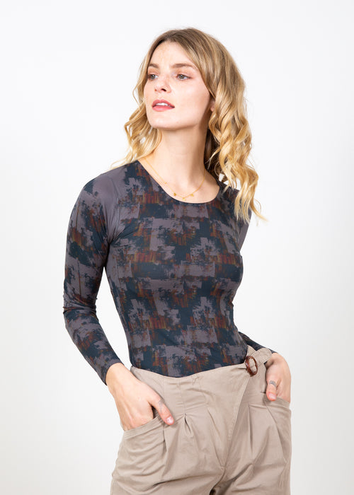 Autumn Grunge Second Skin Crew Neck Top
