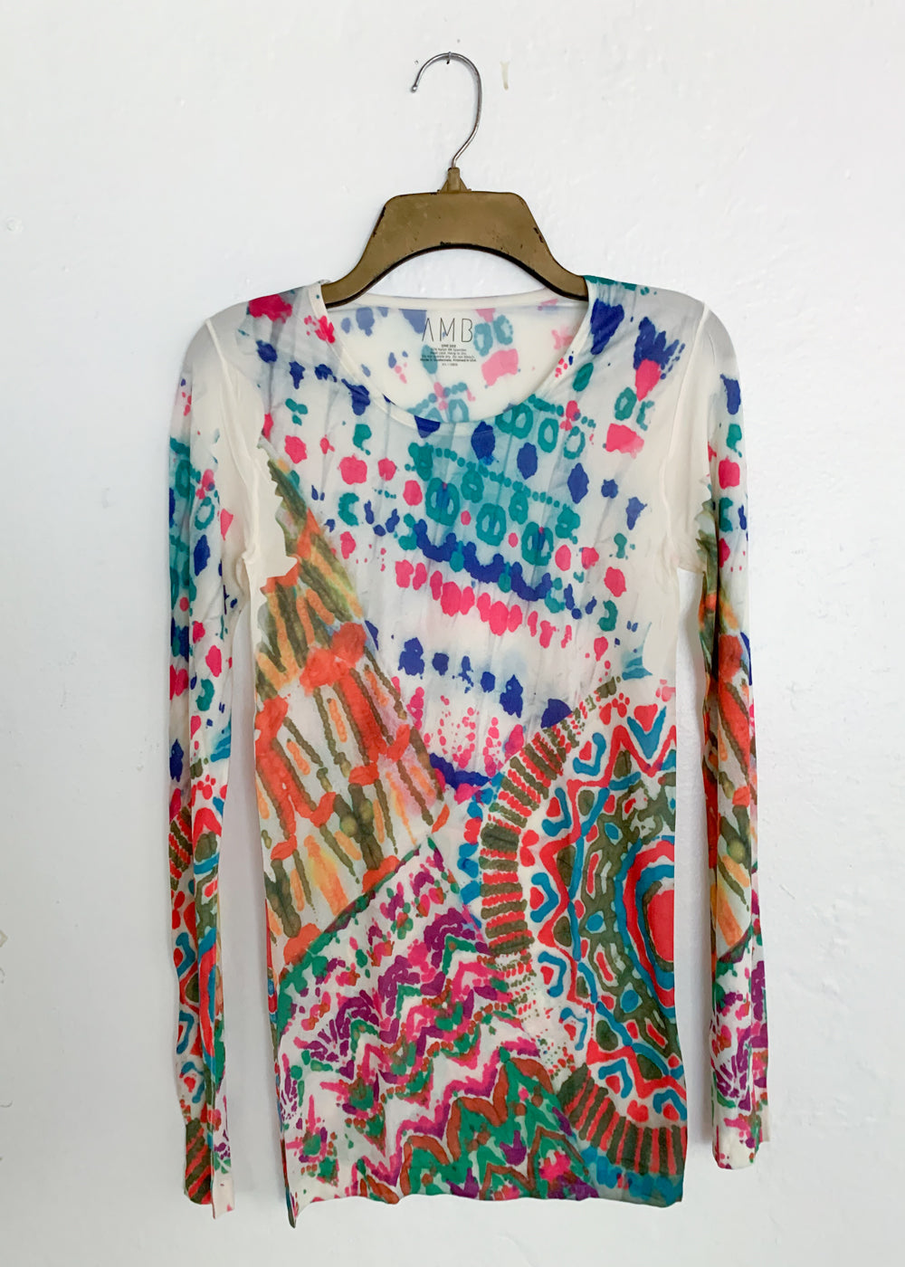 Batik Crew Neck Second Skin Top
