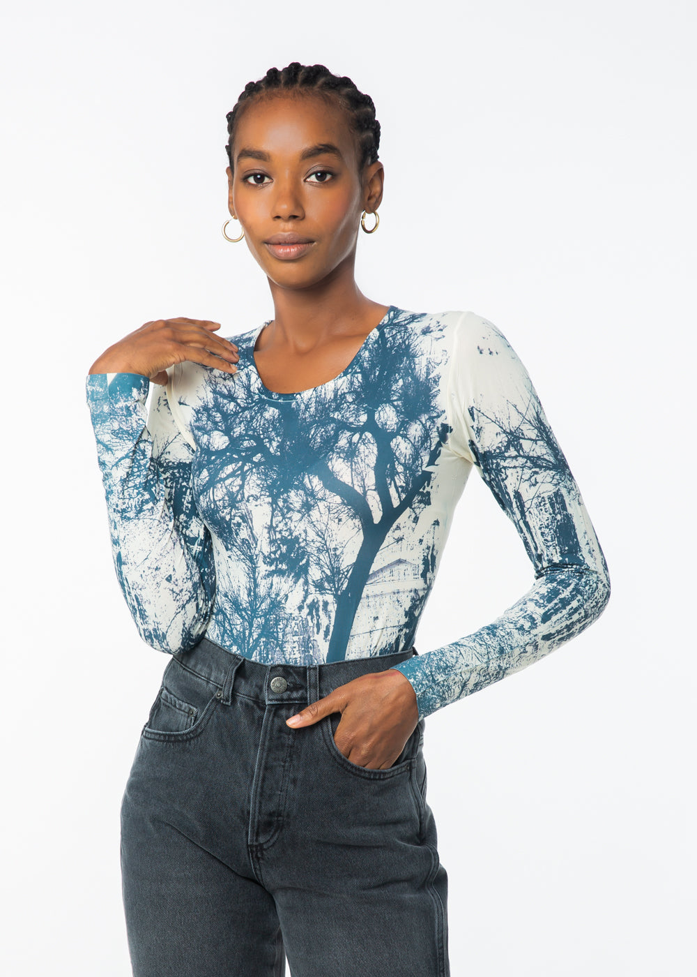 Walk in the Park Crew Neck Second Skin Top