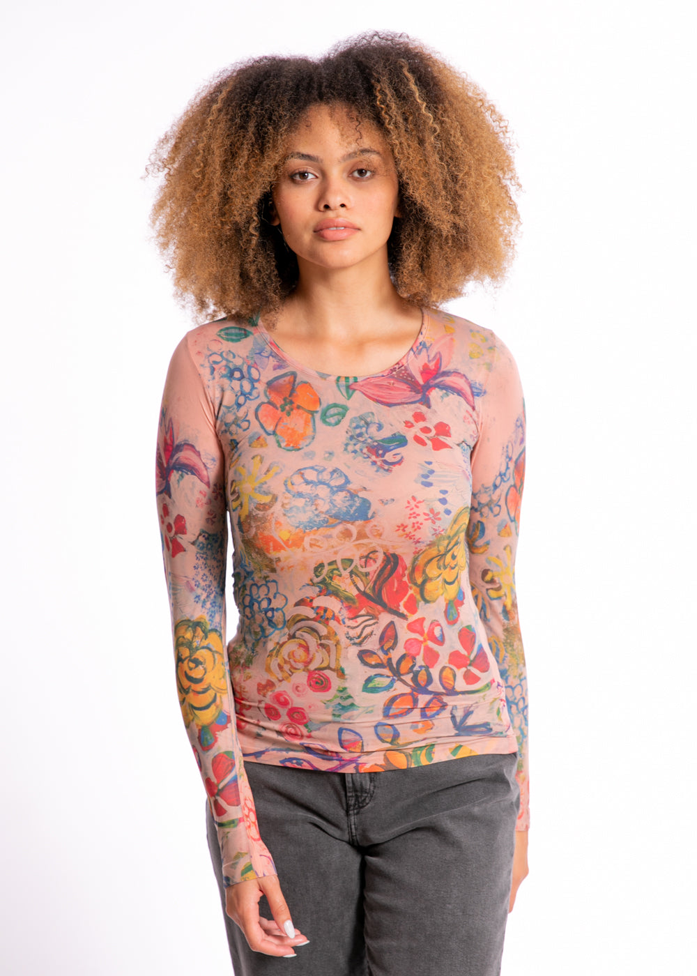 Le Jardin Second Skin Crew Neck Top