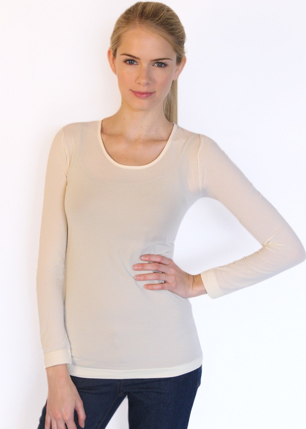 Solid Crew Neck Second Skin Top - NEW COLORS!