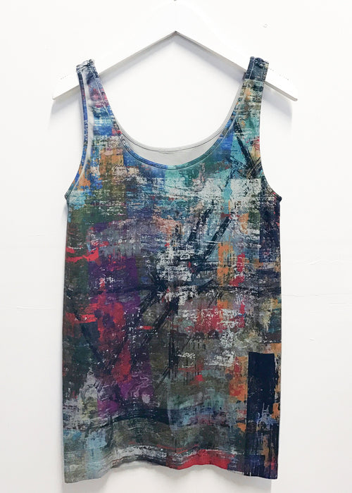 Mixed Media Tank Top