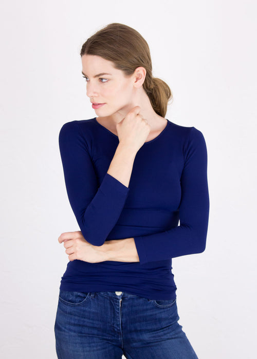 Classic Crew Neck 3/4 Sleeve Top - New Colors!