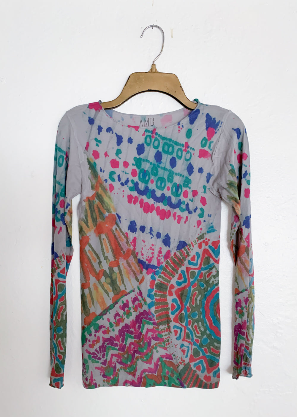 Batik Raw Edge Second Skin Top