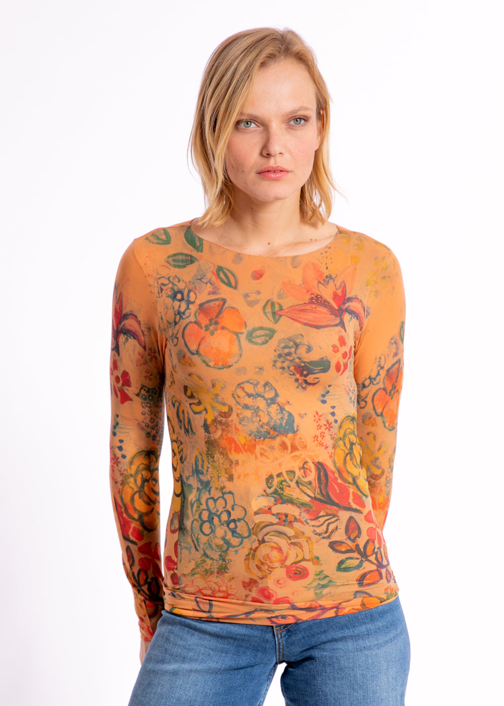 Le Jardin Raw Edge Second Skin Top