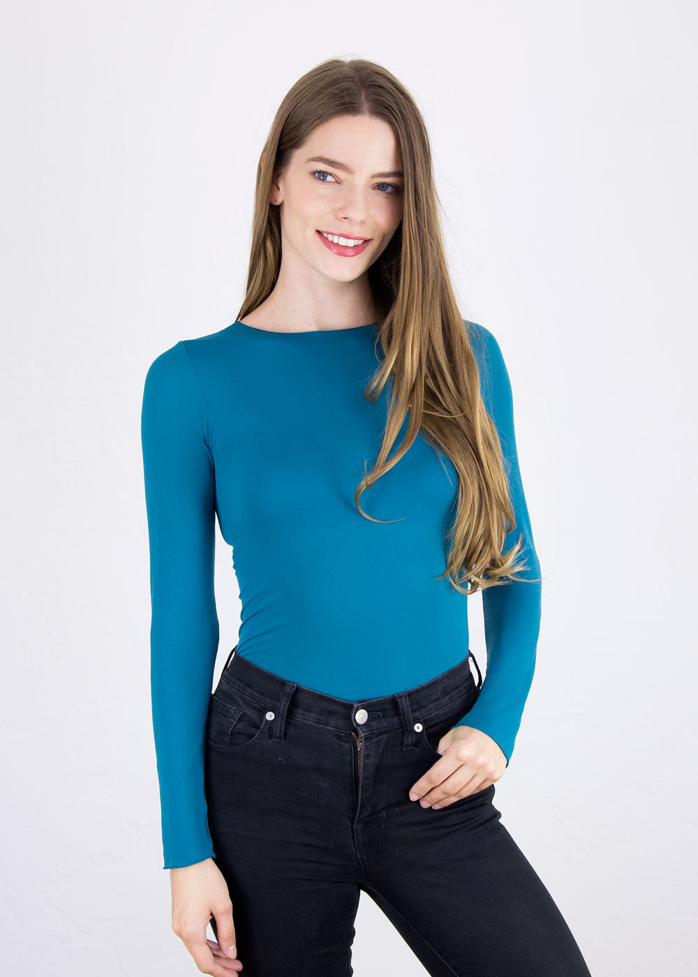 Solid Raw Edge Sheer Top - NEW COLORS!