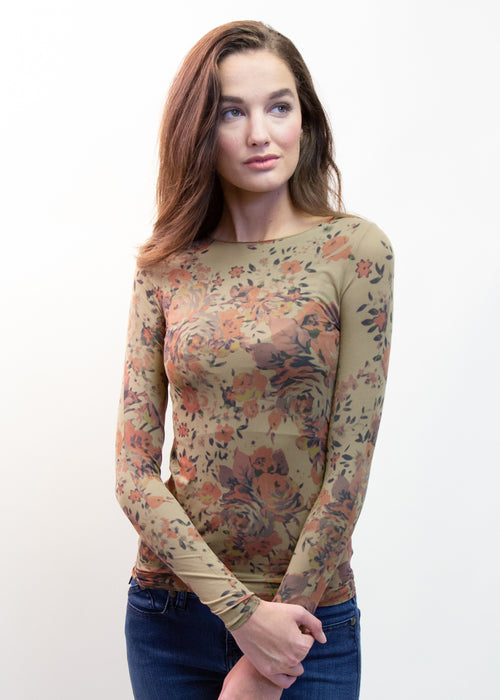 Dolce Floral Raw Edge Top