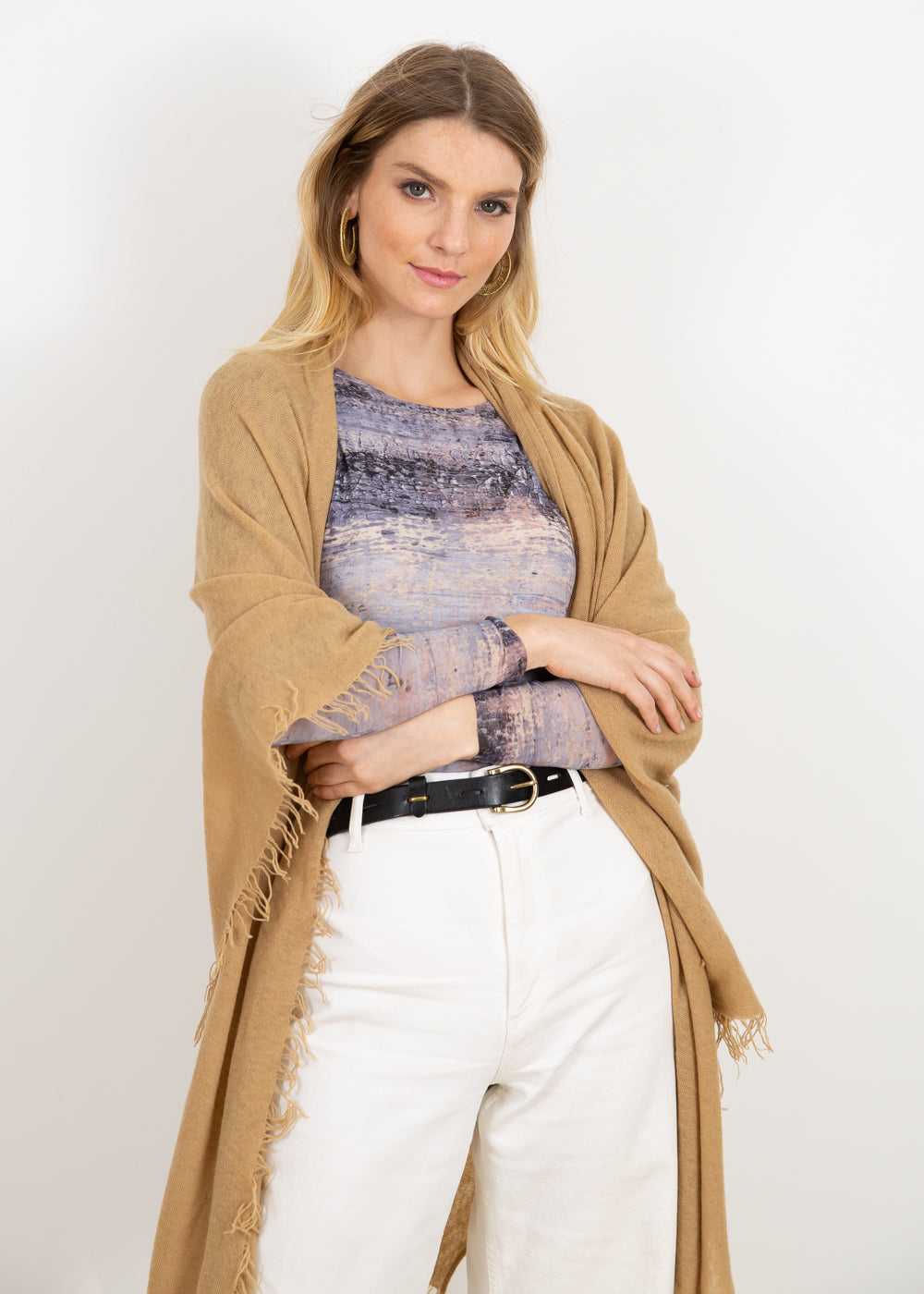 Silver Canvas - Florence Double Sheer Top