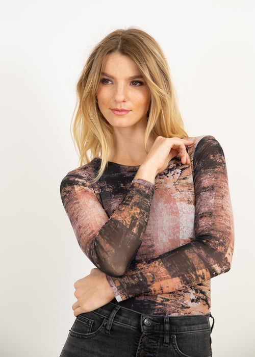 Earth Canvas - Florence Double Sheer Top