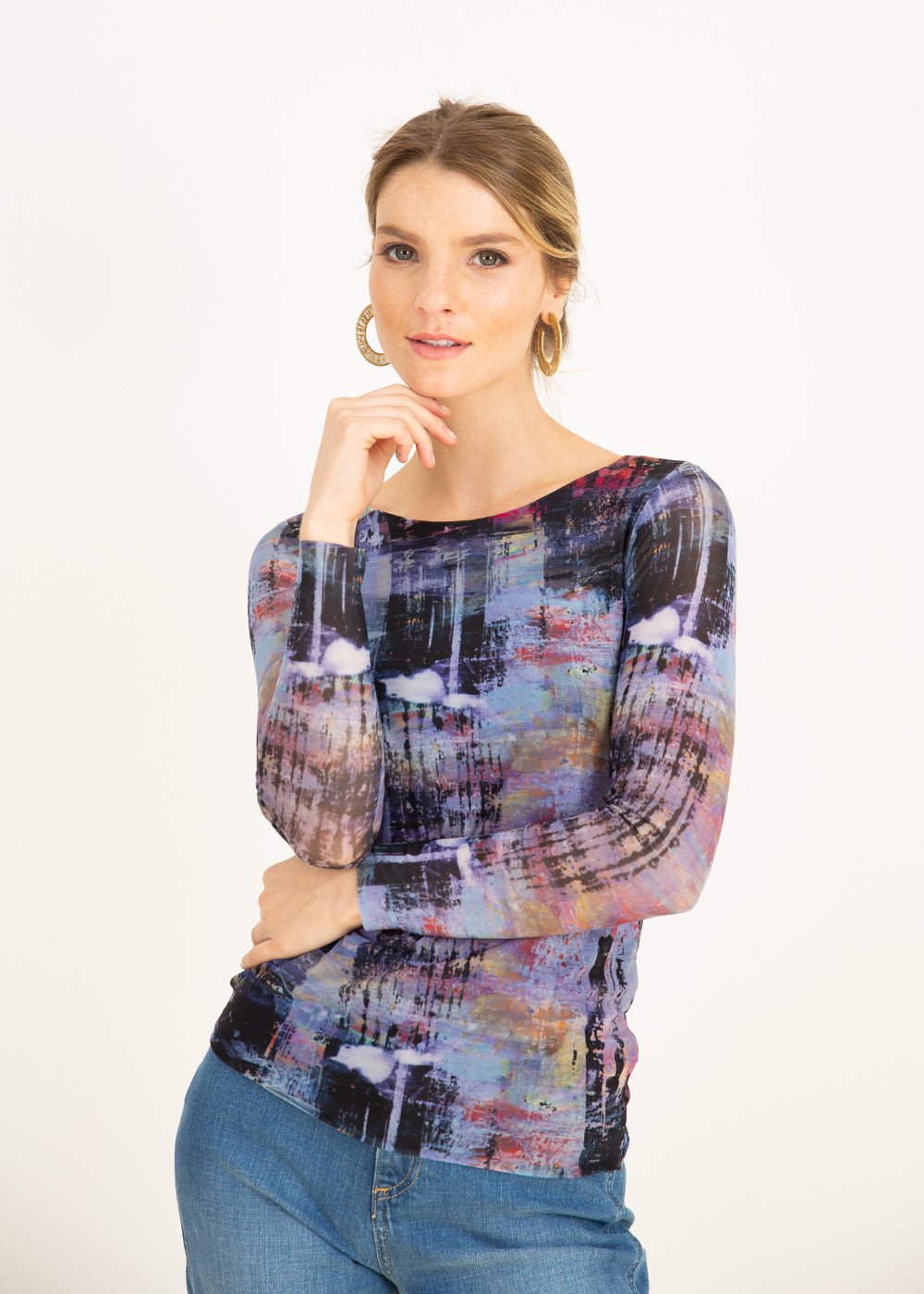 Multi Canvas - Florence Double Sheer Top