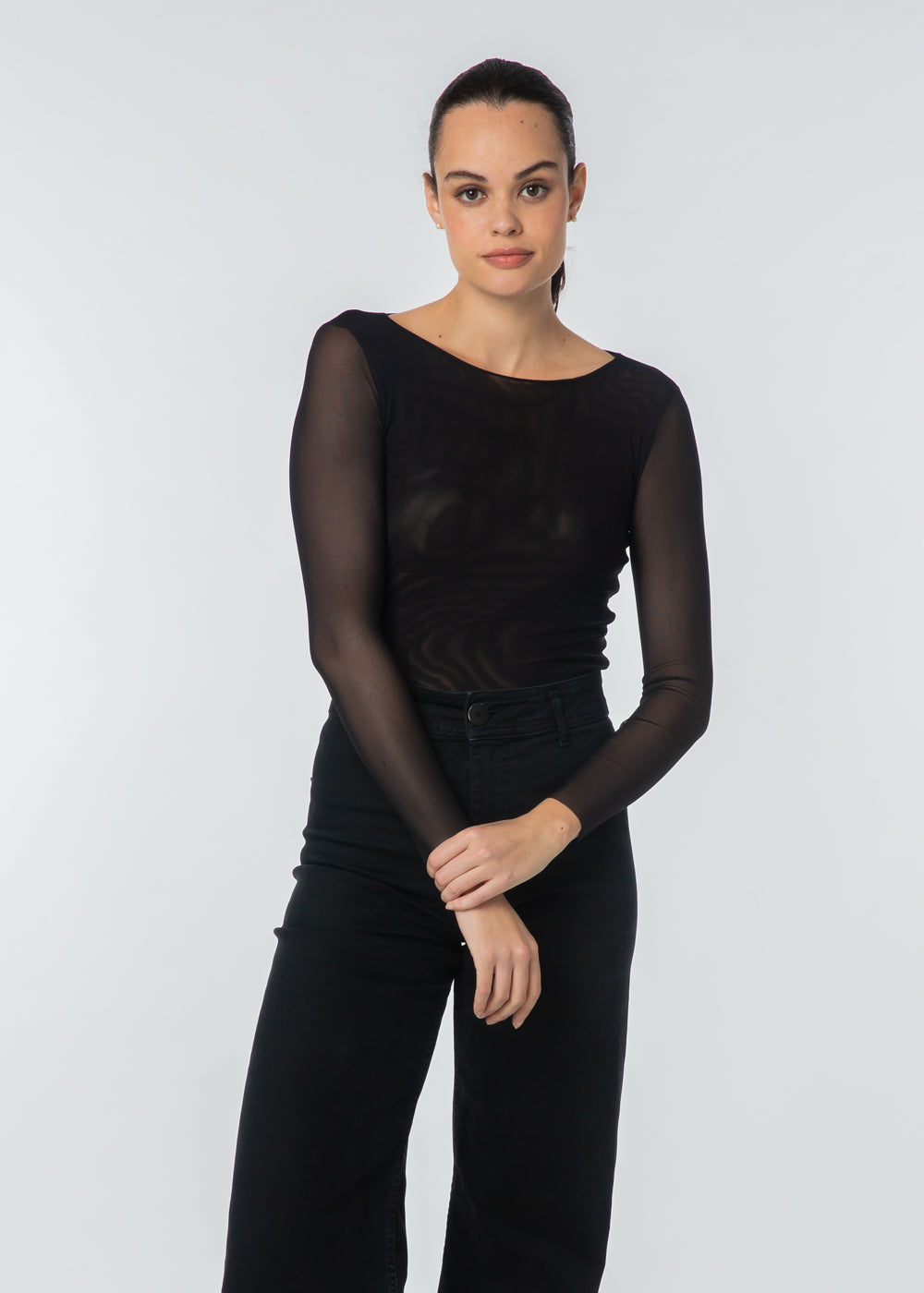 Florence Solid Double Sheer Top