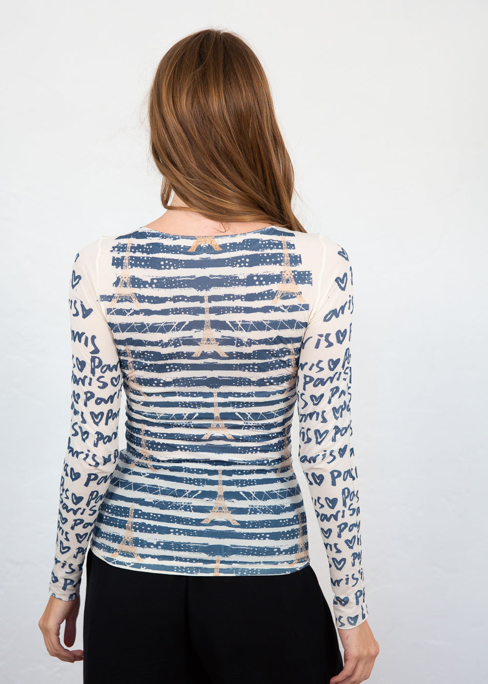 Love Paris Raw Edge Top