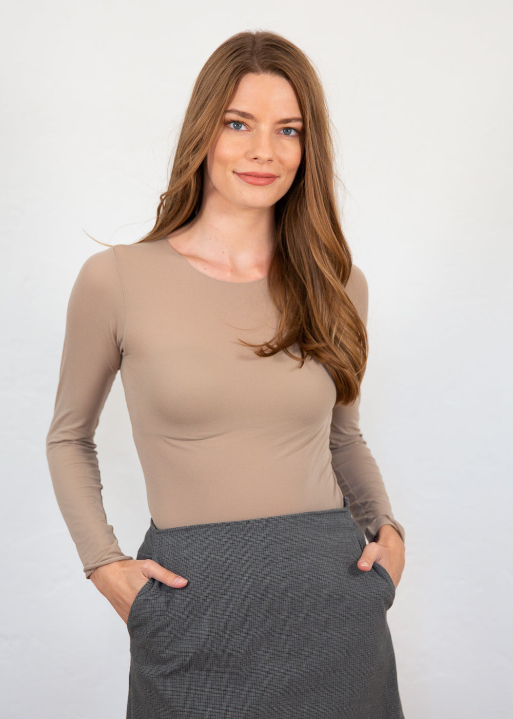 Solid Raw Edge Second Skin Top - NEW COLORS!
