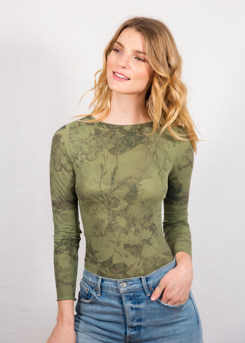 Antique Flora Raw Edge Top