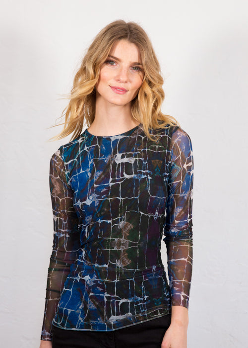 Blue Stone - Florence Double Sheer Top