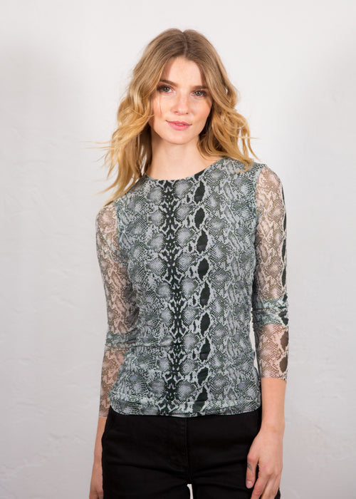 Snake Skin - Florence Double Sheer Top