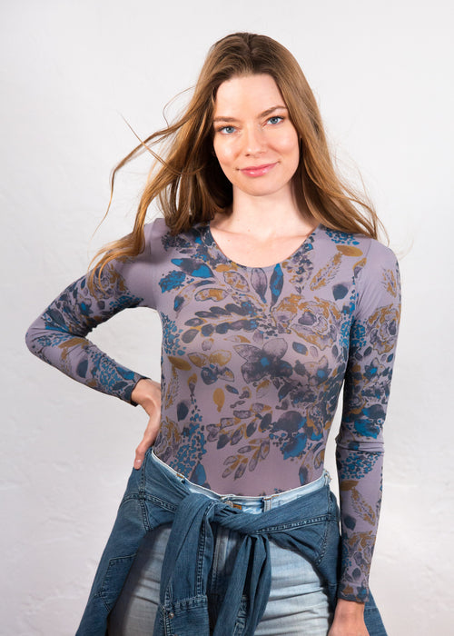 Spring Blossom Second Skin Crew Neck Top