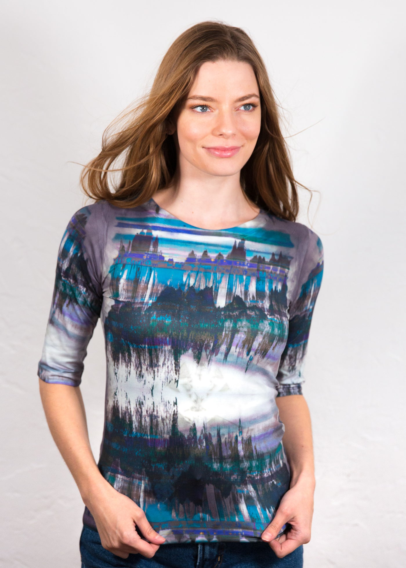 Other Worlds Elbow Sleeve Top