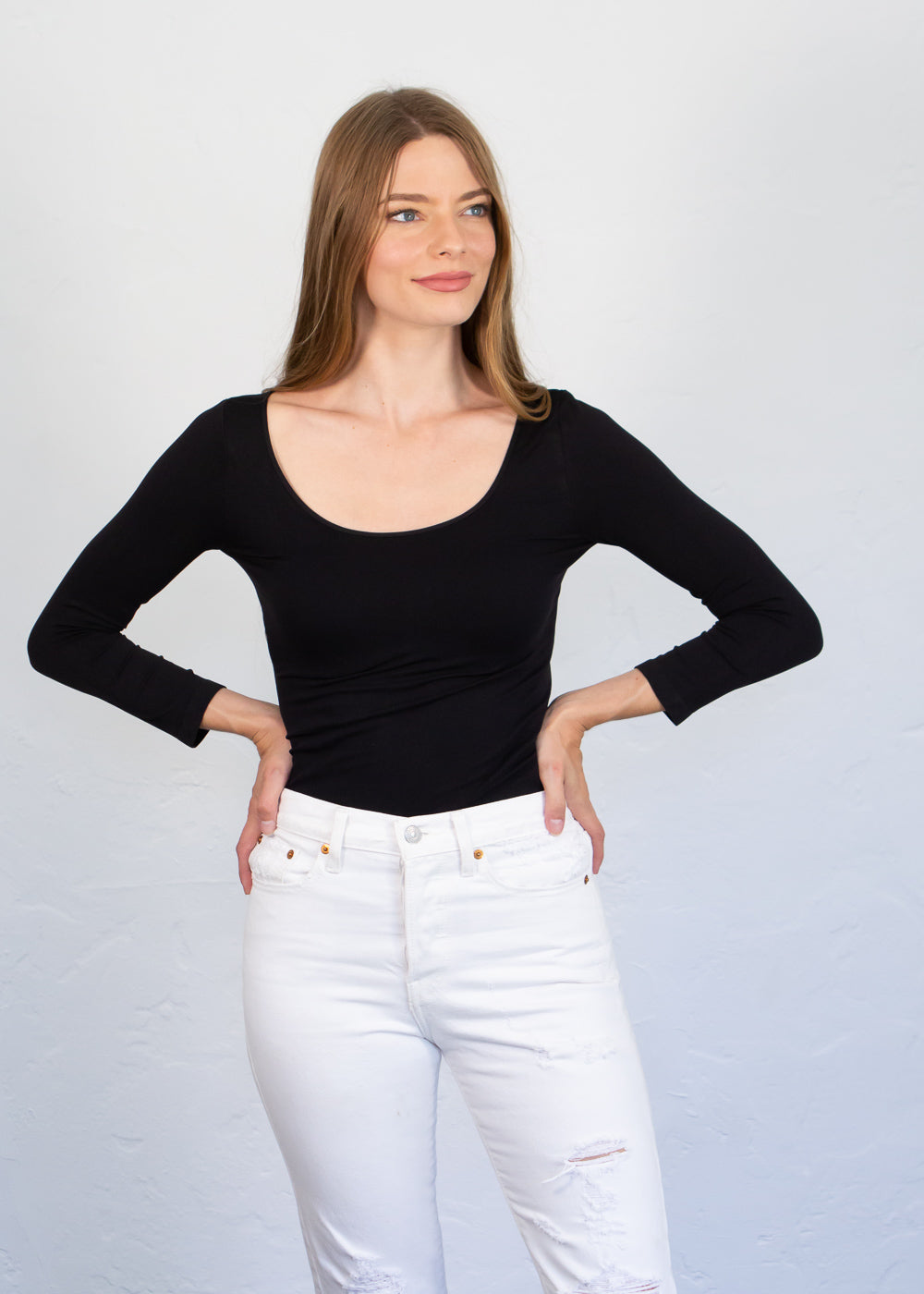Classic Scoop 3/4 Sleeve Top - New Colors!