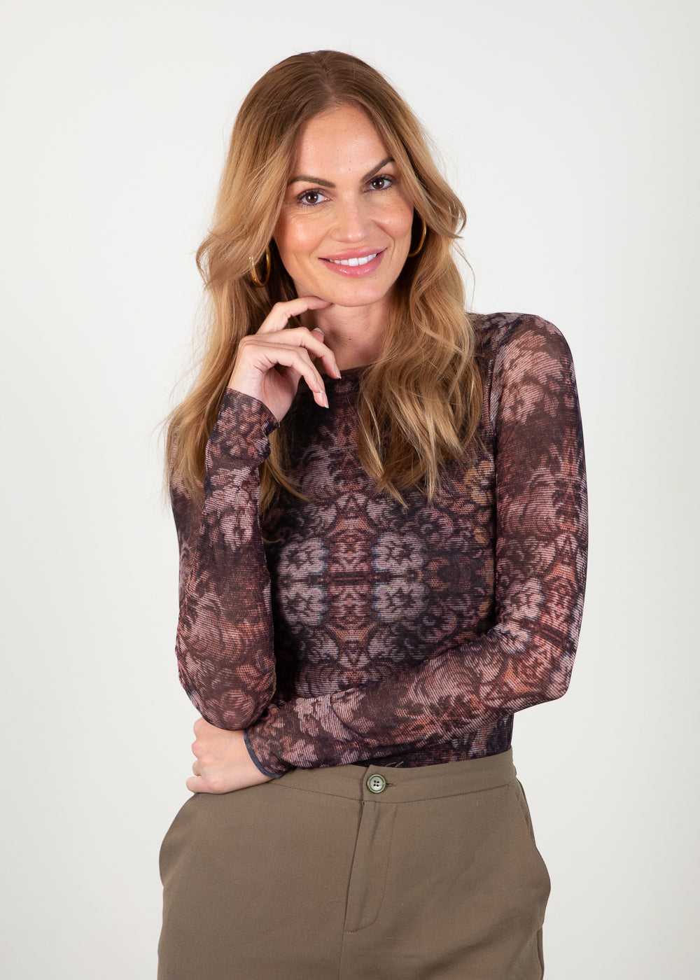 Golden Tapestry - Florence Double Sheer Top