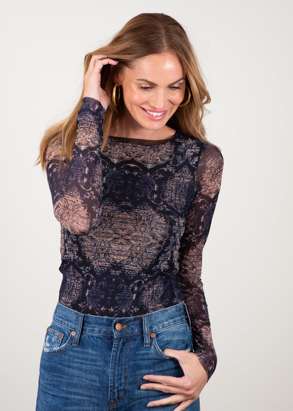 Gold Baroque - Florence Double Sheer Top